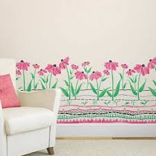 Floral Wall Stencils For Bedrooms 64 Best Green Room Images On Pinterest Flower Stencils Stencil