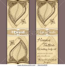 mehndi cards vector set banners cards indian ornamental stock vector 358304828