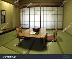 traditional japanese room fresh green tatami stock photo 33465607