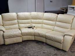 Electric Recliner Sofa by Dfs Cream Corner Electric Recliner Sofa Rrp 2179 Curved Round