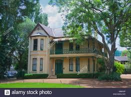 old historic colonial house parramatta sydney nsw australia stock