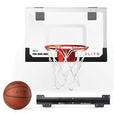 Adjustable Basketball Hoop Wall Mount Amazon Com Sklz Mini Pro Basketball Hoop Elite With Deluxe Ball