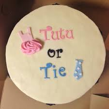 cakes by mindy tutu or tie gender reveal cake 10