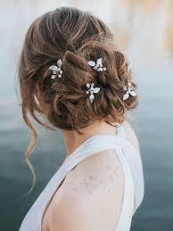 bridal hair pins starburst bridal hair pin in silver gold or pink opal