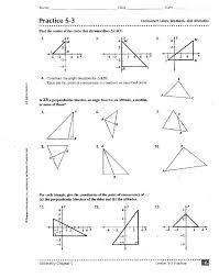 perpendicular and angle bisectors worksheet free worksheets
