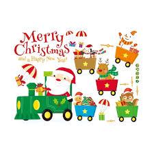 imagenes de santa claus feliz navidad 45 60 cm feliz navidad diy removible pared pegatinas de la pared