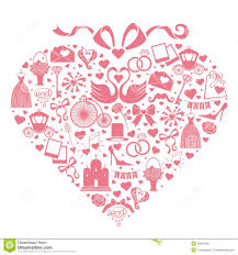 wedding design wedding design icons for web and mobile in hearts stock vector