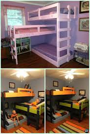 Cool Bunk Bed Designs Diy Kids Bunk Bed Free Plans Picture Instructions