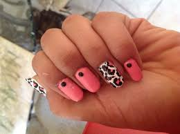 tutorial for easy pink leopard print nail art design with