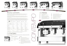 contempo 2 group coffee machine fracino con2 commercial catering