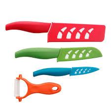kyocera kitchen knives kyocera revolution 5 piece knife set kblock5pcset the home depot