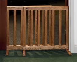 wooden pet gate door included dog room dividers with door