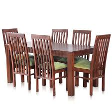 solid oak dining table and 6 chairs bombay solid wood dining table with 6 chairs mynesthome dot com