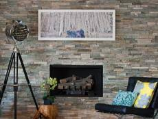 Converting A Wood Fireplace To Gas by How To Cover A Brick Fireplace With Stone Hgtv