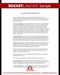 non disclosure agreement beta tester nda form with sample