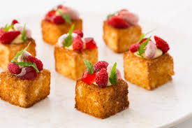 dessert canapes cheesecake and brioche canapé recipe great chefs
