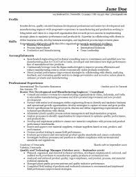 Manufacturing Resumes Resume For Manufacturing Engineer Sample Resume123