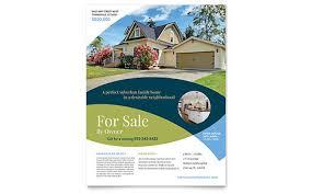 Estate Feature Sheet Template Estate Flyers Templates Designs