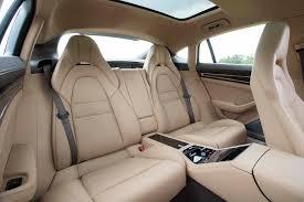 interior porsche panamera 2017 porsche panamera 4s rear interior seats motor trend