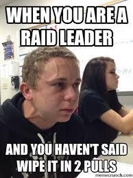 Raid Meme - you are a raid leader