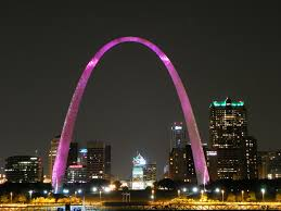 Gateway Arch Gateway Arch The Arch Is Lit Pink During The Month Of Octo U2026 Flickr