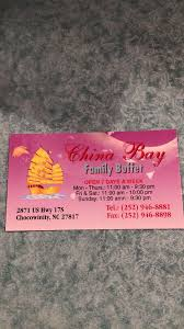 Chinese Buffet Greenville Nc by China Bay Buffet Home Chocowinity North Carolina Menu