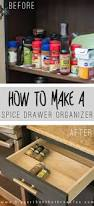 get organized with this diy spice drawer organizer bigger than