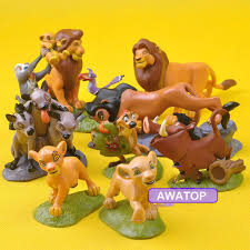 lion king cake toppers 9 pcs set classic simba nala timon model the lion king pvc