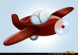 imagenes animadas de aviones vuelo del avión de plástico en el diseño de dibujos animados