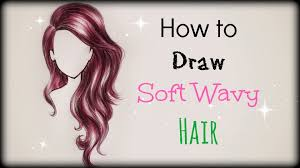 drawing tutorial how to draw and color soft wavy hair front