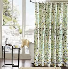 Teal Colored Shower Curtains Teal Colored Shower Curtains Pmcshop Purple And Green Floral