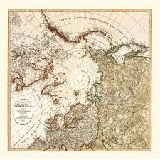 North Pole Map North Pole Old Map Print Vintage Map Poster Of The Arctic For Sale