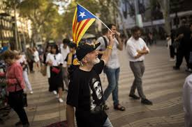 catalan officials mull independence spanish stocks sink the
