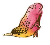 bird u0027s foot sketch u2014 stock vector goldenshrimp 127613906