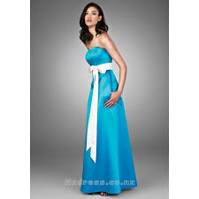 sash ribbon 2015 blue a line floor length satin with a ribbon empire wasit