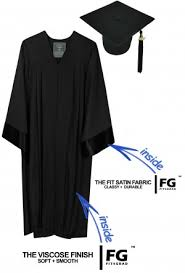 black graduation cap and gown cap and gown ba sets
