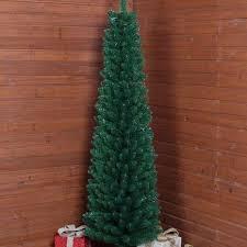 6ft green slim christmas tree dunelm flat updates pinterest