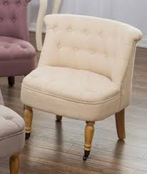 Occasional Chair Bedroom Accent Chair Armchair Occasional Button Back Linen Boudoir