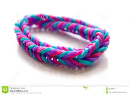 rubber bracelet made images Close up of bracelet made with rubber bands stock image image of jpg