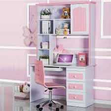 Pink Computer Desk Continental Corner Pink Desk Combination Bookcase