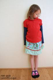 ruffle girl easy ruffle skirt tutorial and sewing with kids gun ramblings