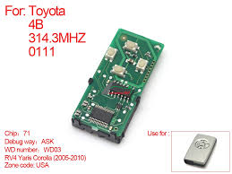 toyota number number 271451 0111 toyota smart remote pcb board 4 button 314mhz