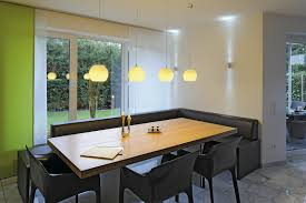 modern lighting ideas hanging disco lamps open plan shelves white