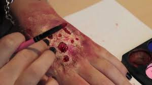 rotting flesh zombie skin makeup so easy you can do it with no