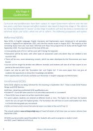 ashington academy options booklet 2016 pathway 3 page 8 9