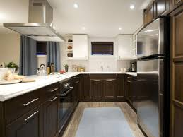 amazing white brown colors two tone kitchen cabinets with
