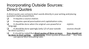 quote punctuation meaning using outside sources correctly and effectively 1 summary