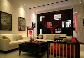 greet the chinese new year in a living room decorated with red