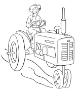 Farm Vehicles Coloring Pages Free Printable Farm Vehicles Farm Color Page