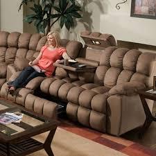 brayden reclining sofa w drop down table lights u0026 drawer by